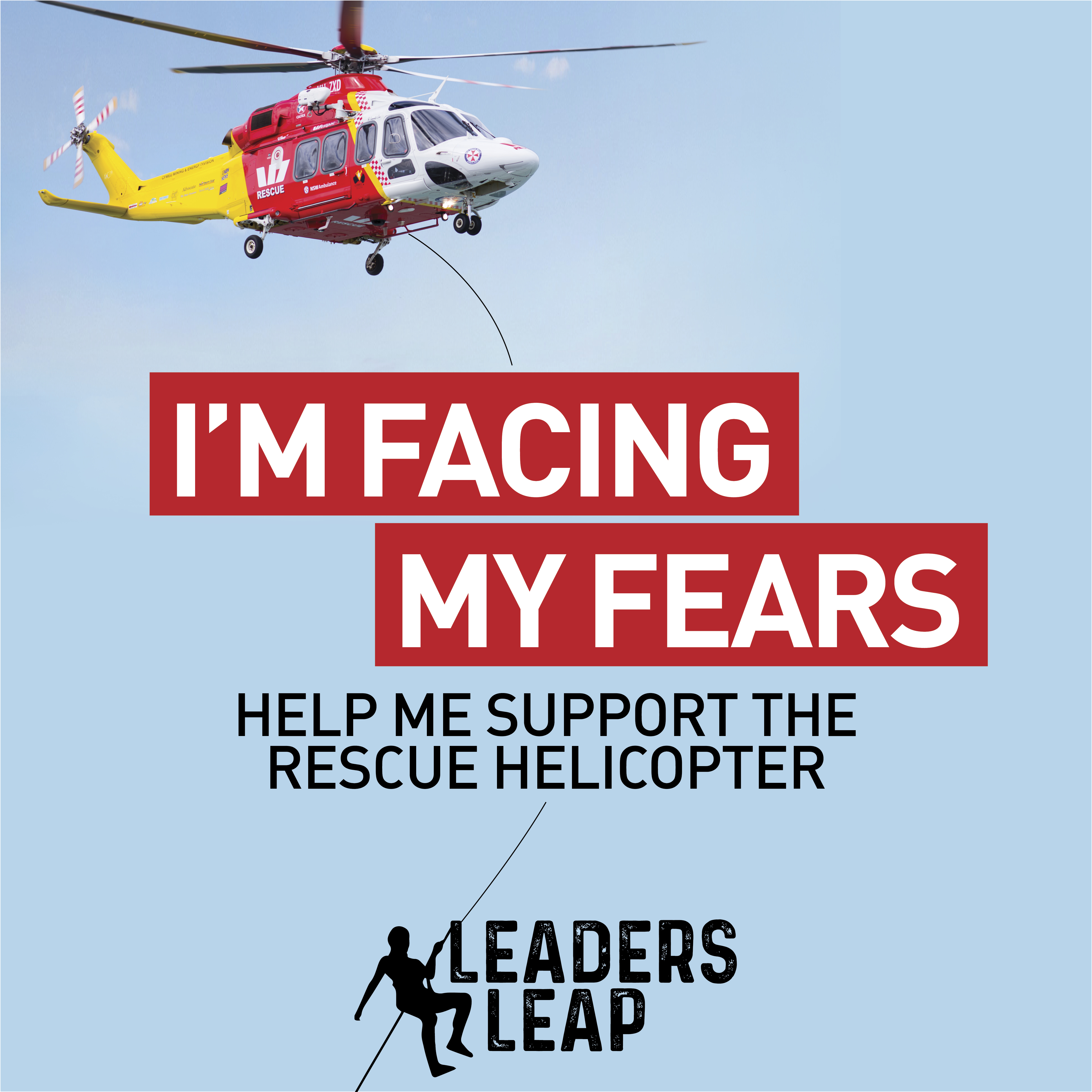 LeadersLeap Facing Fears BlueSky Social Tile