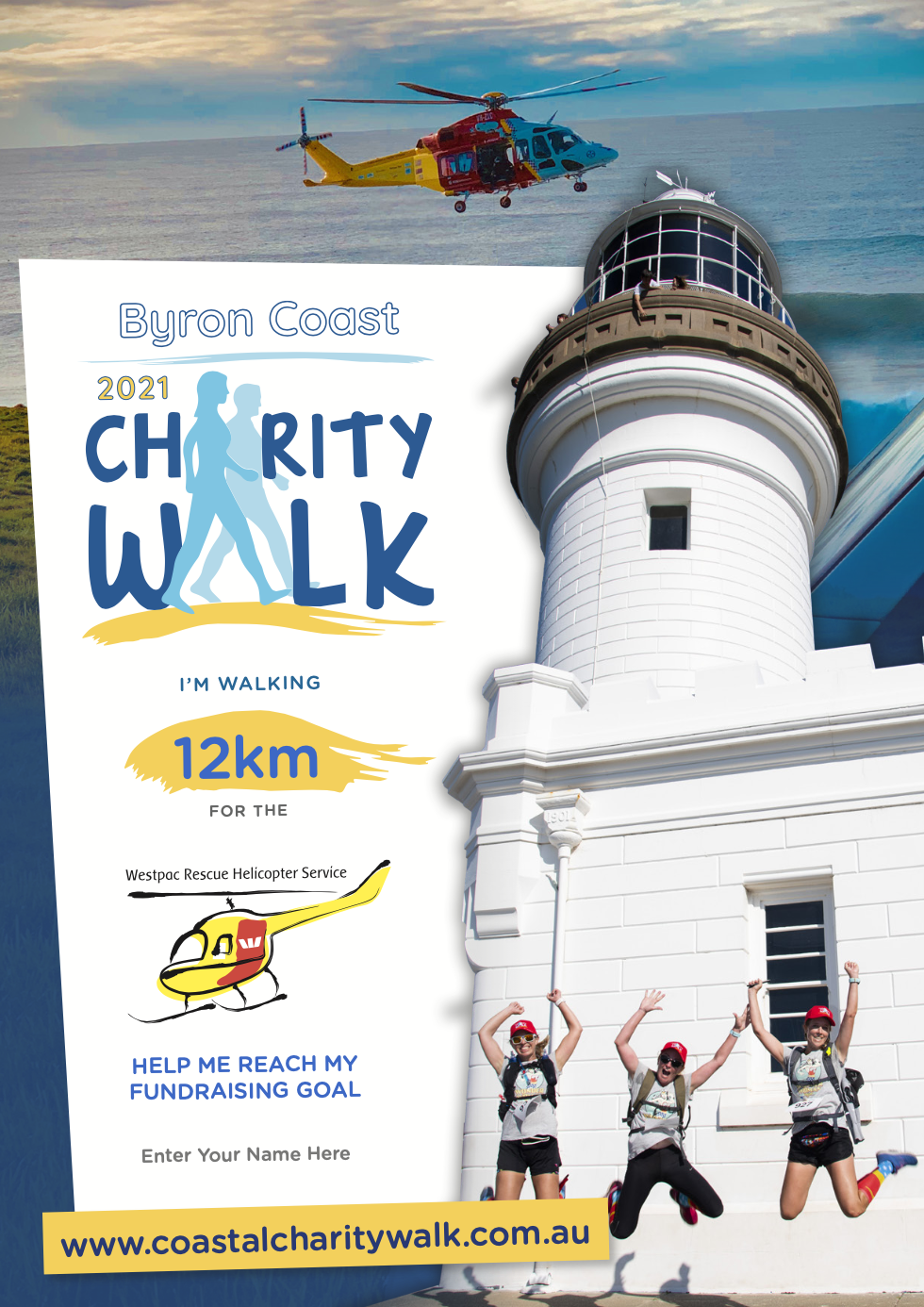 Individual fundraising poster 12km