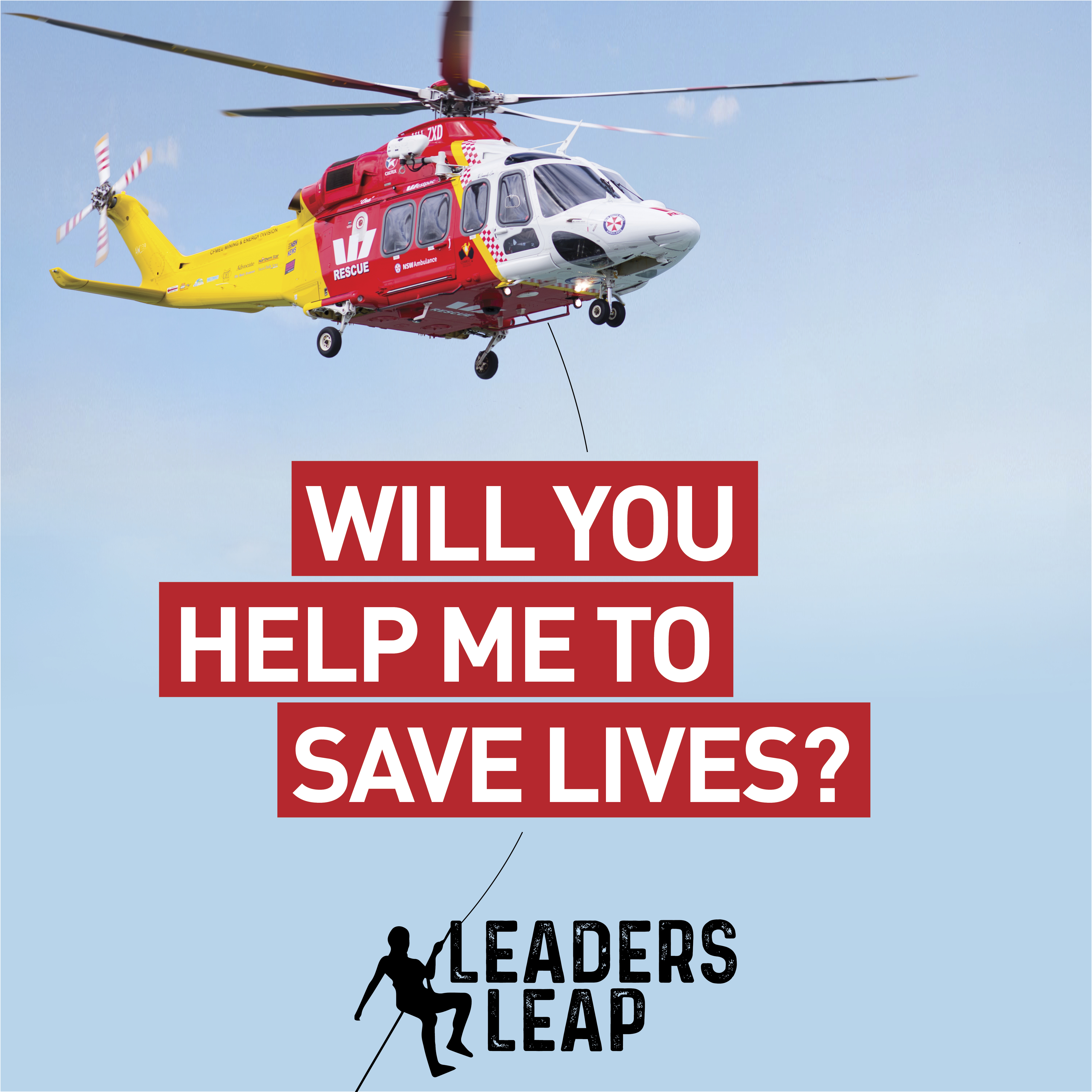 LeadersLeap Saving Lives BlueSky Social Tile