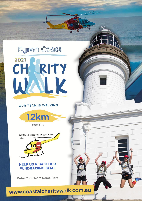 Team fundraising poster 12km
