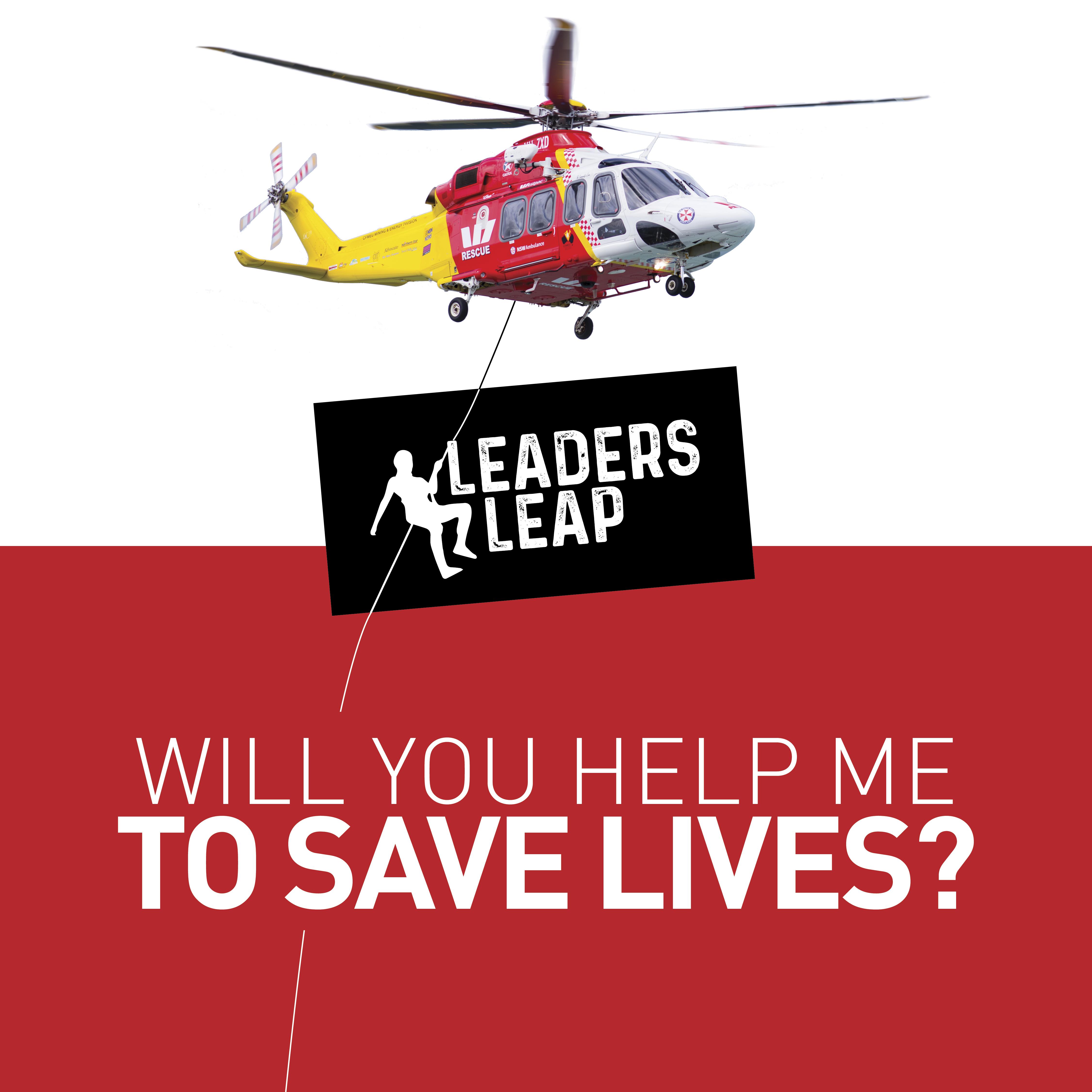 LeadersLeap Saving Lives AW139 Social Tile